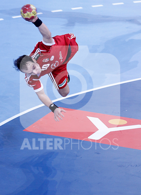 Hungary's Gergely Harsanyi during 23rd Men's Handball World Championship preliminary round match.January 12 ,2013. (ALTERPHOTOS/Acero)