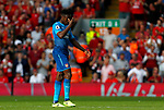 Arsenal's Danny Welbeck reacts after Liverpool's third goal during the premier league match at Anfield Stadium, Liverpool. Picture date 27th August 2017. Picture credit should read: Paul Thomas/Sportimage