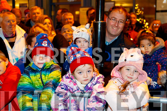 Eamon, Emily, Zoe, Zack and Donal Burke, enjoying the Santa Parade in Killarney on Saturday evening last.