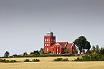 Dreslette Church lost in a gorgeous landscape, Fyn, Denmark