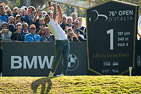 Edoardo Molinari (ITA) in action on the 1st hole during the third round of the 76 Open D'Italia, Olgiata Golf Club, Rome, Rome, Italy. 12/10/19.<br /> Picture Stefano Di Maria / Golffile.ie<br /> <br /> All photo usage must carry mandatory copyright credit (© Golffile | Stefano Di Maria)