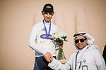 Andreas lorentz Kron (DEN) Riwal Readynez Cycling Team wins the White Jersey young ridersl classification at the end of Stage 5 of the Saudi Tour 2020 running 144km from Princess Nourah University to Al Masmak, Saudi Arabia. 8th February 2020. <br /> Picture: ASO/Pauline Ballet   Cyclefile<br /> All photos usage must carry mandatory copyright credit (© Cyclefile   ASO/Pauline Ballet)
