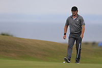Eddie Pepperell (ENG) during the final round of the Aberdeen Standard Investments Scottish Open, Gullane Golf Club, Gullane, East Lothian, Scotland. 15/07/2018.<br /> Picture Fran Caffrey / Golffile.ie<br /> <br /> All photo usage must carry mandatory copyright credit (&copy; Golffile | Fran Caffrey)