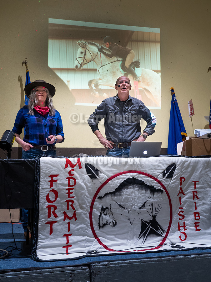 Liz and Dave Sinclair discuss photography as a career to the Multicultural Youth gathering during Thursday at STW XXXI, Winnemucca, Nevada, April 12, 2019.<br /> .<br /> .<br /> .<br /> .<br /> @shootingthewest, @winnemuccanevada, #ShootingTheWest, @winnemuccaconventioncenter, #WinnemuccaNevada, #STWXXXI, #NevadaPhotographyExperience, #WCVA