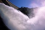 Shasta Dam on the Scaramento river power plant near Redding Northern California USA.
