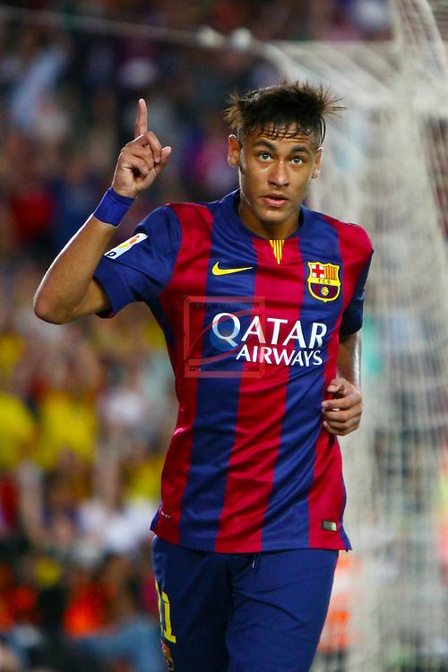 49e Trofeu Joan Gamper.<br /> FC Barcelona vs Club Leon FC: 6-0.<br /> 2-0: Neymar Jr.