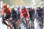 The lead group of riders including Mads Pedersen (DEN) tackle the 9 laps of the Harrogate circuit during the Men Elite Road Race of the UCI World Championships 2019 running 261km from Leeds to Harrogate, England. 29th September 2019.<br /> Picture: Eoin Clarke | Cyclefile<br /> <br /> All photos usage must carry mandatory copyright credit (© Cyclefile | Eoin Clarke)
