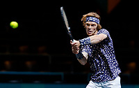 Rotterdam, The Netherlands, 14 Februari 2020, ABNAMRO World Tennis Tournament, Ahoy, <br /> Andrey Rublev (RUS).<br /> Photo: www.tennisimages.com