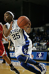 UK guard Amani Franklin drives to the net against Miami (OH) Tuesday night at Memorial Coliseum. Photo by Scott Hannigan | Staff.