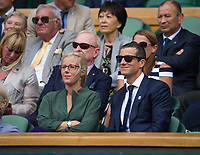 Bear Grylls in the Royal Box on Centre Court<br /> <br /> Photographer Ashley Western/CameraSport<br /> <br /> Wimbledon Lawn Tennis Championships - Day 11 - Friday 14th July 2017 -  All England Lawn Tennis and Croquet Club - Wimbledon - London - England<br /> <br /> World Copyright &copy; 2017 CameraSport. All rights reserved. 43 Linden Ave. Countesthorpe. Leicester. England. LE8 5PG - Tel: +44 (0) 116 277 4147 - admin@camerasport.com - www.camerasport.com