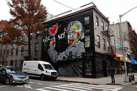 NOVA YORK, EUA - 30.11.2018 - ARTE-NOVA YORK - Mural Albert Einstein We Love New York do artista brasileiro Eduardo Kobra é visto na Ilha de Manhattan em Nova York (Foto Vanessa Carvalho / Brazil Photo Press)
