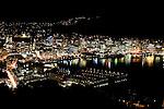 Harbour at night. Wellington scenes. Photo: Marc Weakley