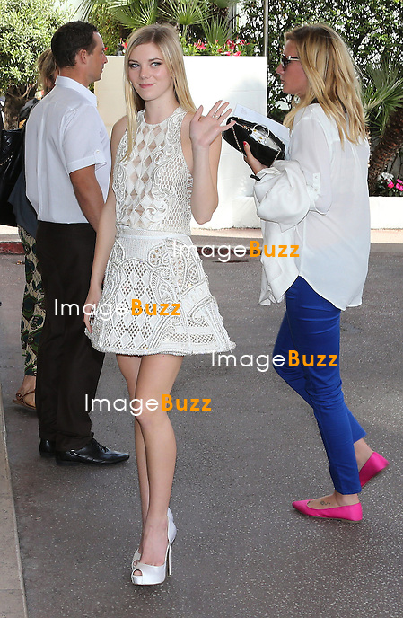 Actress Claire Julien arrives at Martinez Hotel during the 66th Cannes Film Festival. May 16, 2013.