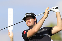 Ricardo Gouveia (POR) tees off the 10th tee during Thursday's Round 1 of the 2016 Portugal Masters held at the Oceanico Victoria Golf Course, Vilamoura, Algarve, Portugal. 19th October 2016.<br /> Picture: Eoin Clarke | Golffile<br /> <br /> <br /> All photos usage must carry mandatory copyright credit (&copy; Golffile | Eoin Clarke)