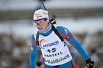 MARTELL-VAL MARTELLO, ITALY - FEBRUARY 03: HIIDENSALO Anna (FIN) during the Women 10 km Pursuit at the IBU Cup Biathlon 6 on February 03, 2013 in Martell-Val Martello, Italy. (Photo by Dirk Markgraf)