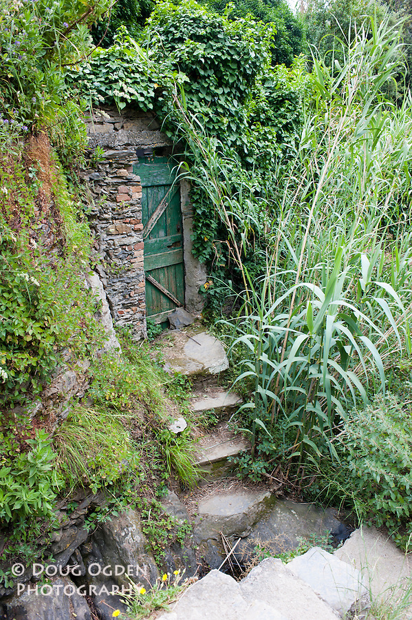 Door to private gardens, Cinque Terre, Italy