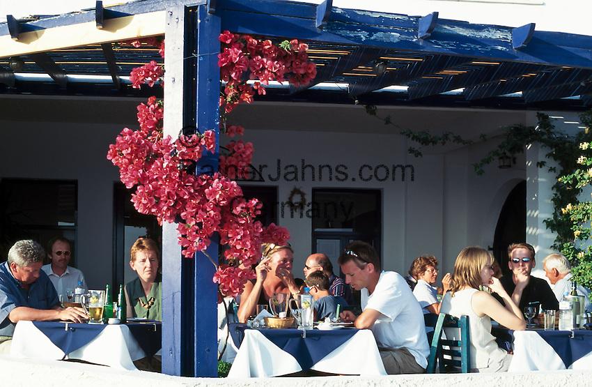 Greece; Cyclades; Santorini; Fira (Thira): Restaurant   Griechenland; Kykladen; Santorini; Fira (Thira): Restaurant