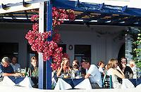 Greece; Cyclades; Santorini; Fira (Thira): Restaurant | Griechenland; Kykladen; Santorini; Fira (Thira): Restaurant