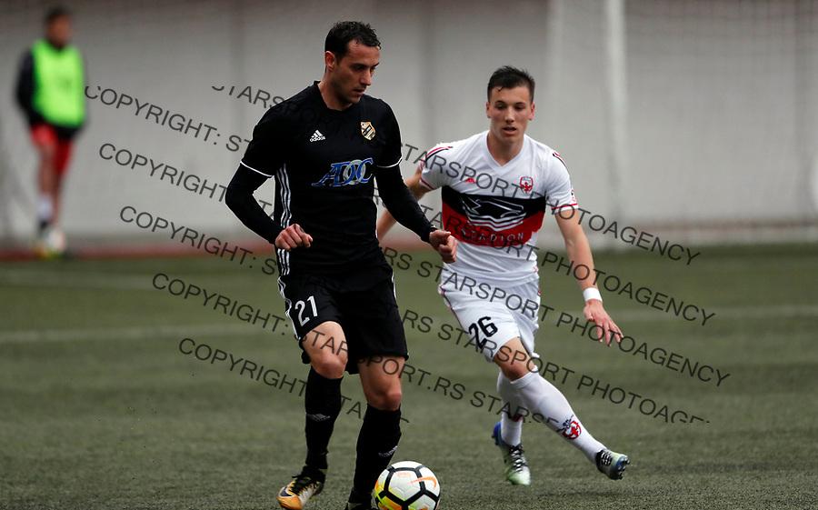 Darko Puskaric i Nikola Sreckovic  Vozdovac - Cukaricki super liga Srbije 5.4.1018. April 5. 2018. (credit image & photo: Pedja Milosavljevic / STARSPORT)