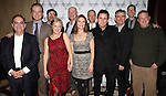 Lewis J. Stadlen, Mark Shanahan, Terry Kinney, Kelly Coffield Park, John Ottavino, Kathryn Erbe, Douglas McGrath, Anthony LaPaglia, Kevin O'Rourke, Robert Stanton & Joel Marsh Garland attending the Opening Celebration for 'Checkers' at the Vineyard Theatre in New York City on 11/11/2012