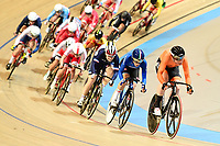 Picture by SWpix.com - 02/03/2018 - Cycling - 2018 UCI Track Cycling World Championships, Day 3 - Omnisport, Apeldoorn, Netherlands - Woman's Omnium Scratch Race - Kirsten Wild of The Netherlands, Elisa Balsamo of Italy and Laurie Berthon of France