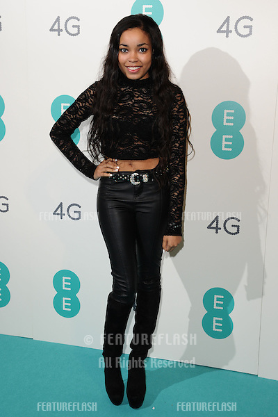 Dionne Bromfield arriving for the Everything Everywhere 4G launch party at Battersea Power Station, London. 01/11/2012 Picture by: Steve Vas / Featureflash