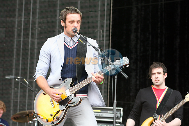Niall Breslin and Anthony Doran of the Blizzards at Slane 2009....Photo NEWSFILE/Jenny Matthews.(Photo credit should read Jenny Matthews/NEWSFILE)....This Picture has been sent you under the condtions enclosed by:.Newsfile Ltd..The Studio,.Millmount Abbey,.Drogheda,.Co Meath..Ireland..Tel: +353(0)41-9871240.Fax: +353(0)41-9871260.GSM: +353(0)86-2500958.email: pictures@newsfile.ie.www.newsfile.ie.FTP: 193.120.102.198.