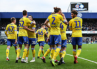 Leeds United's Aapo Halme (no. 52) celebrates scoring his side's first goal with his team mates<br /> <br /> Photographer Andrew Kearns/CameraSport<br /> <br /> The Emirates FA Cup Third Round - Queens Park Rangers v Leeds United - Sunday 6th January 2019 - Loftus Road - London<br />  <br /> World Copyright &copy; 2019 CameraSport. All rights reserved. 43 Linden Ave. Countesthorpe. Leicester. England. LE8 5PG - Tel: +44 (0) 116 277 4147 - admin@camerasport.com - www.camerasport.com