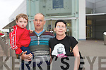 Shoppers at Manor West Retail Park on Tuesday evening, Liam OReilly-Moroney, Tommy Moroney and Katie OReilly.