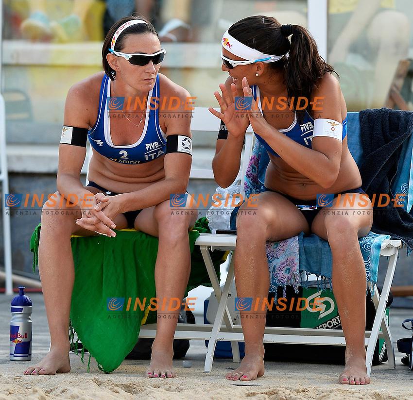 Greta Cicolari / Marta Menegatti Italia <br /> Roma 21/6/2013 Foro Italico <br /> FIVB Beach Volleyball World Tour <br /> Men's smart Grand Slam Rome 2013<br /> Foto Andrea Staccioli Insidefoto