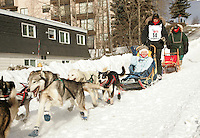 Jeff Deeter in Anchorage on Saturday March 1st during the ceremonial start day of the 2008 Iidtarod Sled Dog Race.