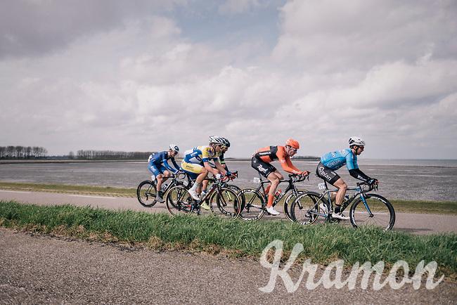 breakaway group on the Zeeland dykes<br /> <br /> 106th Scheldeprijs 2018 (1.HC)<br /> 1 Day Race: Terneuzen (NED) - Schoten (BEL)(200km)