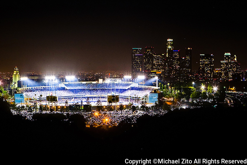 Dodger Stadium Night time view | Michael Zito