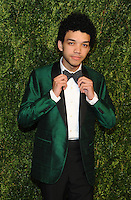 NEW YORK, NY - NOVEMBER 07:  Justice Smith attends 13th Annual CFDA/Vogue Fashion Fund Awards at Spring Studios on November 7, 2016 in New York City. Photo by John Palmer/ MediaPunch