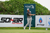 Rasmus Hojgaard (DEN) on the 2nd during Round 1 of the Oman Open 2020 at the Al Mouj Golf Club, Muscat, Oman . 27/02/2020<br /> Picture: Golffile   Thos Caffrey<br /> <br /> <br /> All photo usage must carry mandatory copyright credit (© Golffile   Thos Caffrey)