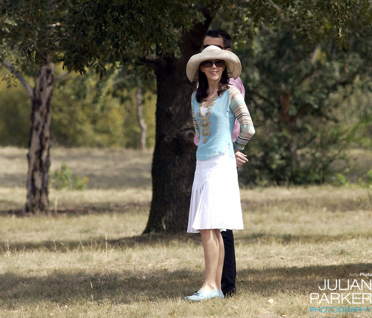 Crown Prince Frederik & Crown Princess Mary of Denmark walk in the grounds of Government House, Canberra, to see the kangaroos, during their 2-week visit to Australia..
