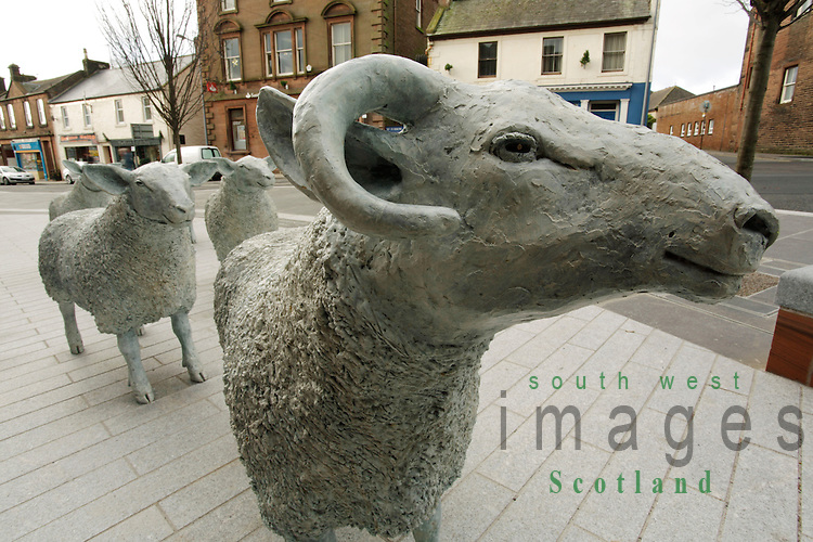 Lockerbie Town Centre sheep sculptures