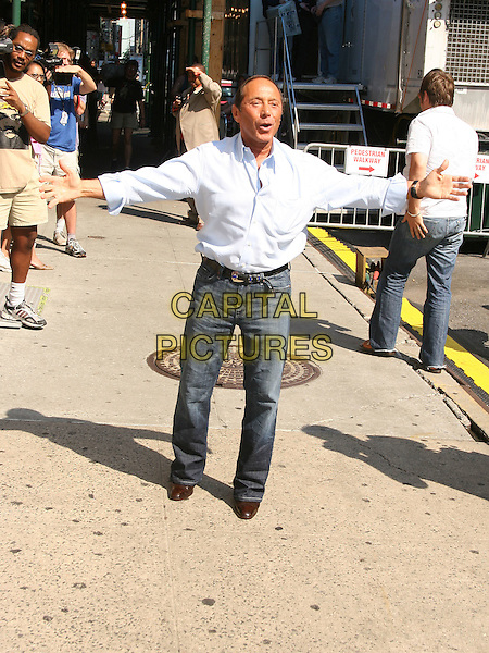 PAUL ANKA.At The David Letterman Show in New York City, USA, .June 8th 2005..full length arms out funny.Ref: IW.www.capitalpictures.com.sales@capitalpictures.com.©Ian Wilson/Capital Pictures.