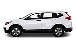 Car Driver side profile view of a 2020 Honda CR-V LX 5 Door SUV Side View