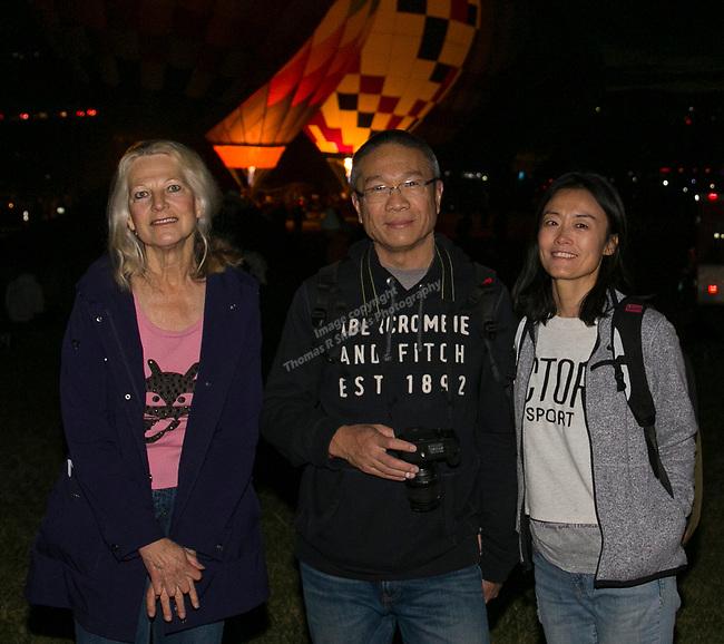 Joyce, Edwin and Sarah during dawn patrol at the Great Reno Balloon Races held on Saturday, Sept. 8, 2018.