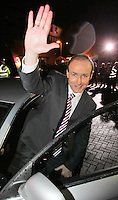 08/02/'11 Fianna Fail leader Micheál Martin pictured leaving TV3, Ballymount Dublin where he participated in the first televised leader's debate of Election 2011...Picture Colin Keegan, Collins, Dublin.
