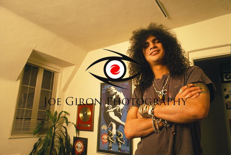 Various portraits & live photographs of the rock band, Guns N' Roses