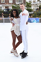 "Perri Shakes-Drayton and Hamish Gaman <br /> at the ""Dancing on Ice"" launch photocall, natural History Museum, London<br /> <br /> <br /> ©Ash Knotek  D3365  19/12/2017"