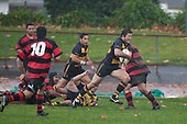Ryota Asano sprints towards the tryline to score his first try for Bombay. Counties Manukau Premier Club Rugby game between Papakura & Bombay played at Massey Park Papakura on Saturday May 30th 2009..Bombay won 57 - 7 after leading 24 - 0 at halftime.