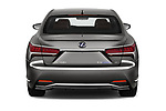Straight rear view of a 2018 Lexus LS President 4wd 4 Door Sedan stock images