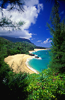 "Lumahai beach, north shore of Kauai, Hawaii, location for """"South Pacific"""" film"