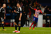 31st October 2017, Wanda Metropolitano, Madrid, Spain; UEFA Champions League, Atletico Madrid versus Qarabag FK; Thomas Teye Partey (5) of Atletico Madrid celebrates the (1,1) after scoring his team´s goal
