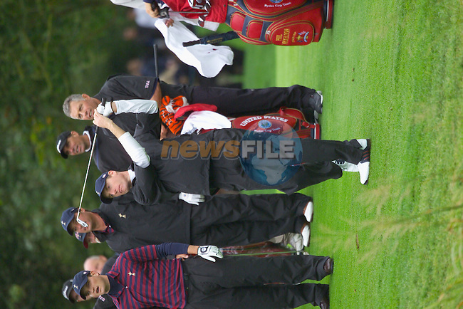 20th September, 2006. American Ryder Cup team member Jim Furyk practices on the 1st fairway during Practice Day 2 of the Palmer Course at the K Club..Photo: Eoin Clarke/ Newsfile.