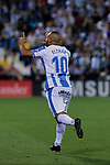 CD Leganes's Nabil El Zhar celebrates goal during La Liga match between CD Leganes and FC Barcelona at Butarque Stadium in Madrid, Spain. September 26, 2018. (ALTERPHOTOS/A. Perez Meca)