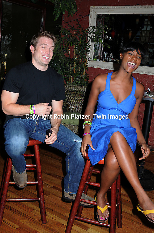 One Life to Live actors  Mark Lawson and Tika Sumpter....at Tika Sumpter's Fan Club Event on August 17, 2008 ..at The Havana Room in New York City. The event raised money for Feed The Children and Harlem Dowling. ....Robin Platzer, Twin Images